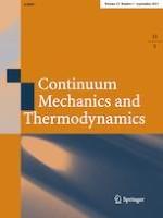 Continuum Mechanics and Thermodynamics 5/2021