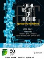 Formal Aspects of Computing 1/2018