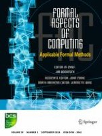 Formal Aspects of Computing 5/2018
