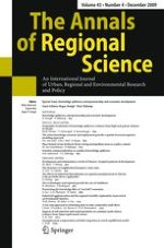 The Annals of Regional Science 4/2009