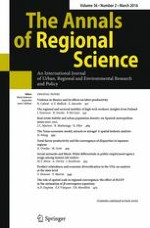 The Annals of Regional Science 2/2016