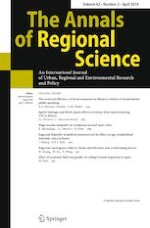 The Annals of Regional Science 2/2019