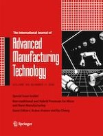 The International Journal of Advanced Manufacturing Technology 11/2019