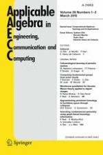 Applicable Algebra in Engineering, Communication and Computing 1-2/2015