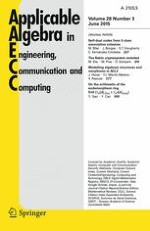 Applicable Algebra in Engineering, Communication and Computing 3/2015