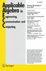 Applicable Algebra in Engineering, Communication and Computing 3/2017