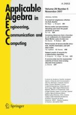 Applicable Algebra in Engineering, Communication and Computing 5/2017