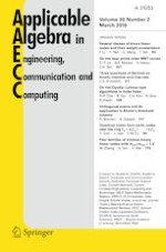 Applicable Algebra in Engineering, Communication and Computing 2/2019