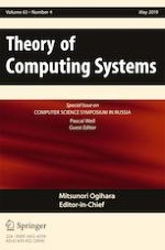 Theory of Computing Systems 4/2019