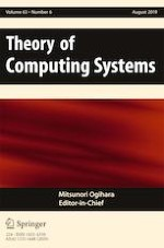 Theory of Computing Systems 6/2019