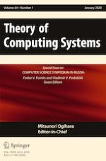 Theory of Computing Systems 1/2020