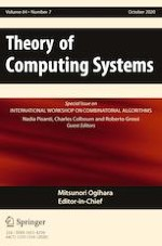 Theory of Computing Systems 7/2020