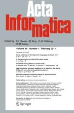 Acta Informatica 1/2011