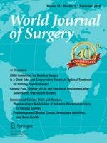 World Journal of Surgery 9/2016