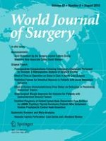 World Journal of Surgery 8/2018