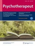 Psychotherapeut 1/2018
