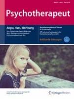 Psychotherapeut 2/2018