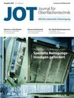 JOT Journal für Oberflächentechnik 1/2020