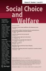 Social Choice and Welfare 1/2011