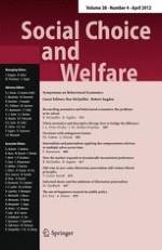 Social Choice and Welfare 4/2012