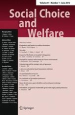 Social Choice and Welfare 1/2013