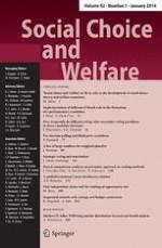 Social Choice and Welfare 1/2014