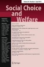 Social Choice and Welfare 4/2015