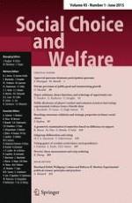 Social Choice and Welfare 1/2015