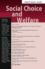 Social Choice and Welfare 1/2016