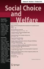 Social Choice and Welfare 3/2016