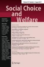 Social Choice and Welfare 2/2017