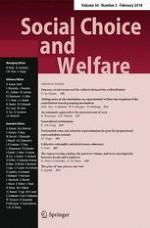 Social Choice and Welfare 2/2018