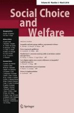 Social Choice and Welfare 3/2018
