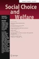 Social Choice and Welfare 1/2019