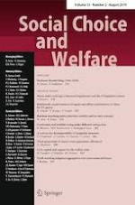 Social Choice and Welfare 2/2019