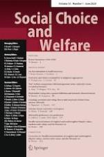 Social Choice and Welfare 1/2020