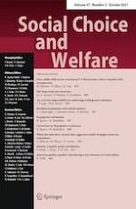 Social Choice and Welfare 3/2021