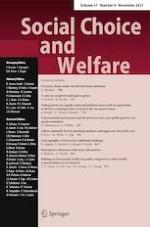 Social Choice and Welfare 4/2021