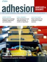 adhesion ADHESIVES + SEALANTS 2/2015