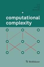 computational complexity 4/2009