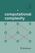 computational complexity 1/2017
