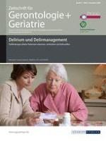 Zeitschrift für Gerontologie und Geriatrie 6/2008