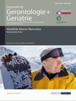 Zeitschrift für Gerontologie und Geriatrie 1/2009