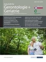 Zeitschrift für Gerontologie und Geriatrie 2/2009