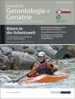 Zeitschrift für Gerontologie und Geriatrie 4/2009