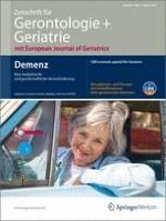 Zeitschrift für Gerontologie und Geriatrie 1/2012