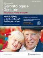 Zeitschrift für Gerontologie und Geriatrie 1/2013