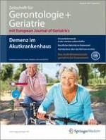 Zeitschrift für Gerontologie und Geriatrie 3/2013