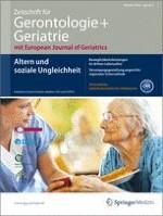 Zeitschrift für Gerontologie und Geriatrie 4/2013