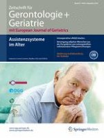 Zeitschrift für Gerontologie und Geriatrie 8/2014